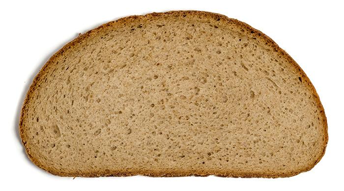 Scheibe Brot Gewicht