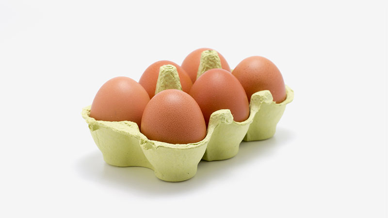 Dissoziierte Diätkartoffeln und Eier